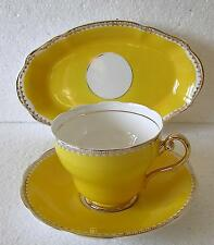 Shabby Chic Leonard St Pottery tea set Canary Yellow oval side plate or dish