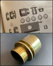 More details for smith & beck antique brass microscope extra large polariser