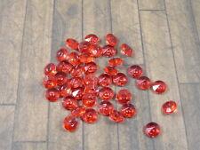 100 DIAMANTEN  Rot Streuelemente  Streudeko  Tischdeko  8 mm Neu