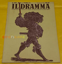 IL DRAMMA 1952 n. 166 - Copertina Urs Graf - Opere: vedi inserzione