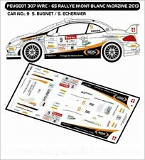 DECALS 1/43 PEUGEOT 307 WRC - #9 - BUGNET - RALLYE MONT BLANC 2013 - MFZ D43244