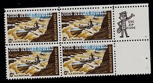 UNITED STATES  SCOTT# 1374 MNH JOHN WESLEY POWELL  ZIP BLOCK OF FOUR TOP RIGHT