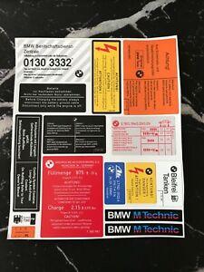 BMW E30 LABELS
