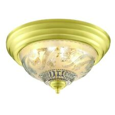 Hampton Bay Ceiling Mounted Lighting 2-Light Flush Mount Polished Brass Ceiling