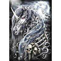 5D DIY Full Drill Diamond Painting Dark Horse Skull Cross Stitch Embroidery
