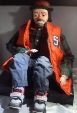 Vintage Emmett Kelly Ventriloquist Dummy / puppet / doll w/ Semi-Pro Features