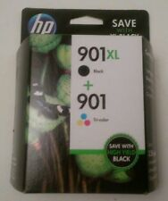 GENUINE HP 901XL BLACK  901 Tri-Color INK CARTRIDGES  EXP: 2019-2020