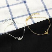 Tiny Peace Dove Bracelet Soar Flying Birds Bracelet Cute Swallow Bird Bracelet