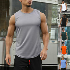 Men's 3 Pack Dry Fit Muscle Tank Tops Mesh Sleeveless Gym Bodybuilding Training