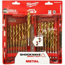 Milwaukee 48894761 Shockwave Red Hex Drill Bit Set - 29 Piece