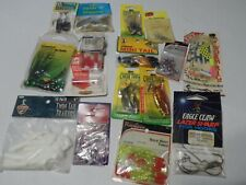Lot of assorted New unopened Packs of fishing items (some older dirty packages)