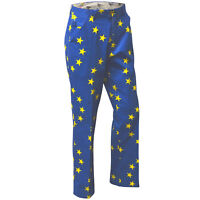 Eurostar European Flag Golf Trousers By Royal And Awesome 30 - 44 Curling Pants