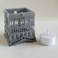 Venetian bridge and house Tea Light Candle Holder and flameless LED tealight