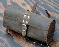 Vintage Brown Leather Bike TOOL BAG B Fixie Schwinn Cruiser Bicycle Saddle Seat