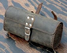 Vintage Brown Leather Bike TOOL BAG B Fixie Schwinn Cruiser Bicycle Saddle Seat