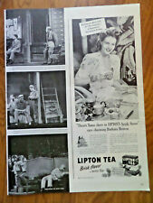 1945 Lipton Tea Ad  Hollywood Movie Star Barbara Britton