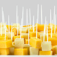 """Soodhalter Pic-A-Pic 500 White Plastic Toothpicks 2.5"""" Party Food Picks"""