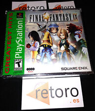 FINAL FANTASY IX 9 Psx PlayStation NTSC USA Nuevo Precintado NEW SEALED Square