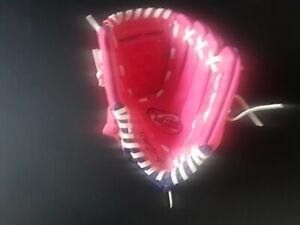 Rawlings Girls Baseball Glove Kids 9 inch PL90PPW   Players Series New
