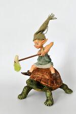 pixie,kobold,wicht,11x11cm,die feenhaften,wichtel,waldgeister,schildkröte,feen