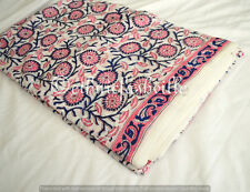 Indian Running Hand Block Print Loose Cotton Fabric Print Decor 3 Yard Handmade