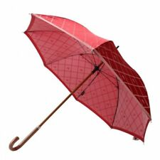 New Burberry Umbrella Horse mark Wood handle Red Overall Ladies 60cm from Japan
