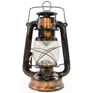 Lloytron 15 LED Storm Lamp Lantern Copper Garden Camping Handle Torch