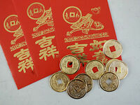 20 CHINESE GOLD LUCKY COIN RED ENVELOPE PARTY NEW YEAR WEDDING BIRTHDAY PARTY