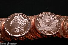 2013 (10) Morgan 1Oz Round .999 Copper Proof Like Fast Ship New Desig