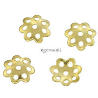 20x 18kt Gold Over Sterling Silver Flower Bead Caps 6mm #51743