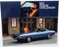 1972 Dodge Dealer Color Sales Brochure Folder Challenger Rallye Original