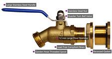 RAINPAL® RBS024 Rain Barrel LF Brass Spigot/Ball Valve