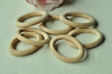 8pcs Wooden Ring Oval Earring Unpainted Wood Beads Natural Craft Circle Drop