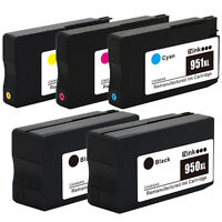 5PK HP 950XL 951XL Ink Cartridges for HP Officejet Pro 8610 8615 8620 8625 8630
