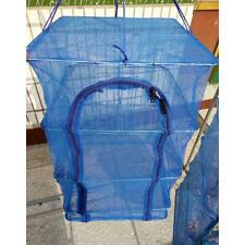 3Layer Hanging Fish Drying Rack Detachable Hydroponic Plant Dryer Net 40*40*65cm