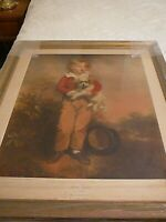 "Beautifully Framed 1920's Print of Master Simpson by A. W. Devis 32 1/2"" x 27"""