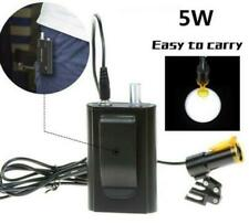 5w Dental Led Head Light Filter Belt Clip For Binocular Loupes Black Us Stock