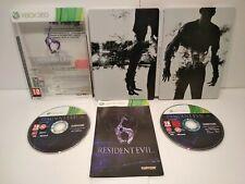 Resident Evil 6 Steelbook G1 XBOX 360 - PAL Français Complet Très bon état