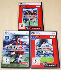 3 pc jeux collection pes pro evolution soccer football 2010 2011 2012 --- (2014)