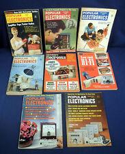 6 Vintage Popular Electronics Magazines June Oct 1957 Aug Nov 1958 1969 Feb 1970