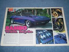 """1965 Custom Corvette Roadster Vintage Article """"Rambo with Style"""""""