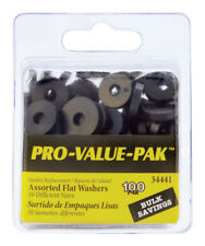Pro Pak 100-Pack Assorted Sizes Rubber Washers Quantities  Neoprene