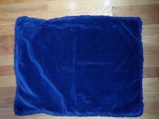 Pottery Barn Velvet Fringe Midnight Blue Standard Sham #6224