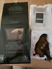 Gentle Giant Star Wars 30Th Anniver Chewbacca Mini Bust New Opened For Pictures