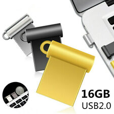 16Gb Usb2.0 Flash Drive Memory Pen Stick Mini Metal Storage Disk For