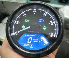 12000r mph Digital Odometer Speedometer Tachometer Motorcycle ATV Gear Dirt Bike