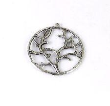 20PCS Tibetan Silver Tree of Life Round Charm FC13131