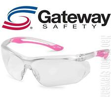 Gateway Parallax PINK Clear Safety Glasses Womens Ballistic Z87+ CSA Z94.3