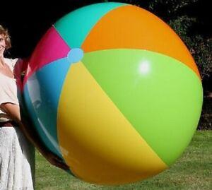 "60"" POOLMASTER Inflatable BEACH BALL Jumbo VINTAGE Glossy Vinyl Pool Toy NOS"