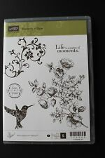 """Stampin Up Elements of Style set of 5 """"Retired"""" Hummingbird, Flowers, For You"""